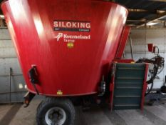 KVERNLAND TAARUP SILOKING 9MCUBE COMPACT, KDM9C,C/W CROSS CONVEYOR & WEIGHER, NEW TYRES