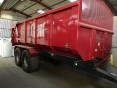 AW ULTIMA 14T TRAILER, 2015, C/W ROLLOVER SHEET ,TYRES 560/R22.5 MODEL 14TULTMONO