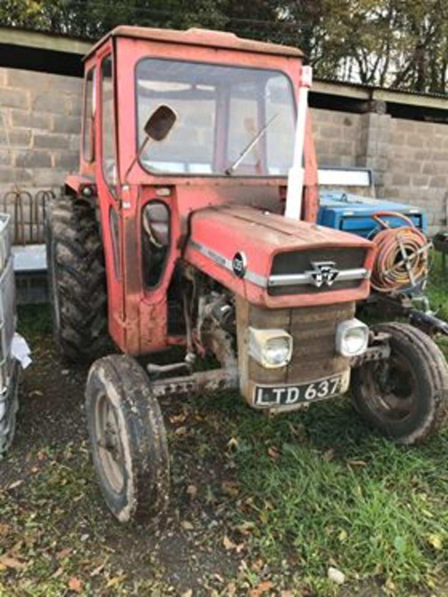 Lot 257 - MASSEY FERGUSON 135 2WD TRACTOR LTD 637