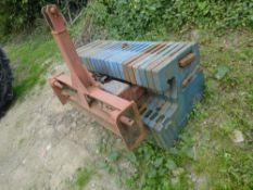 TRACTOR FRONT WEIGHTS 23,40KG,1.1T