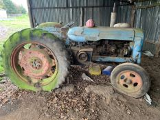1954 FORDSON MAJOR TRACTOR c/w THAMAS TRADER ENGINE