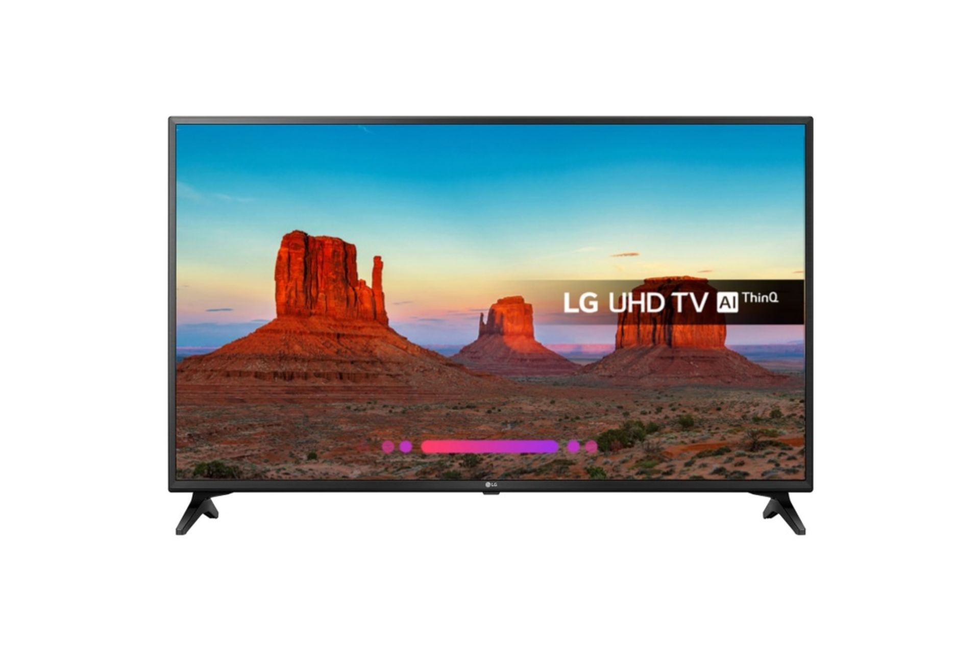 Lot 16009 - V Grade A LG 43 Inch ACTIVE HDR 4K ULTRA HD LED SMART TV WITH FREEVIEW HD & WEBOS & WIFI - AI TV