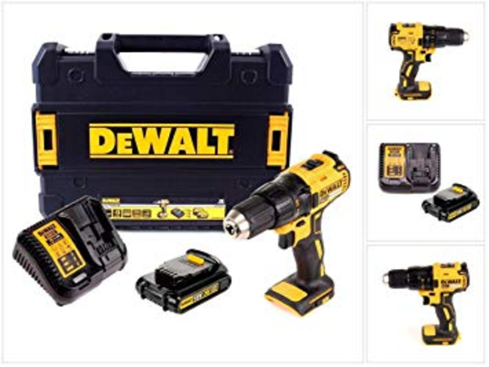 Lot 17008 - V Brand New DeWalt 18v Brushless Drill Driver With Battery And Charger In DeWalt Plastic Case