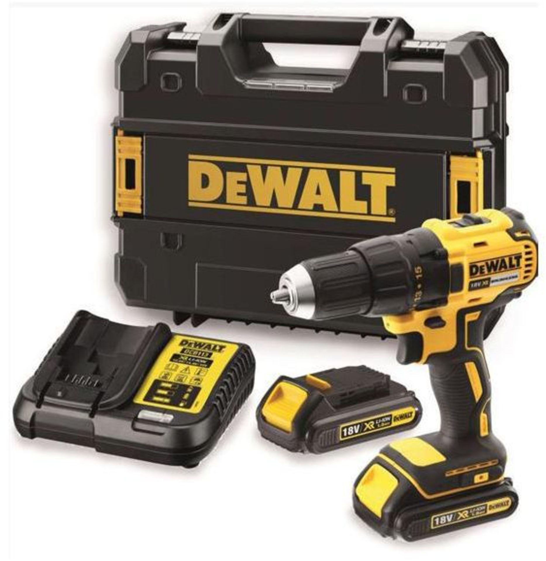 Lot 17003 - V Brand New DeWalt 18v Brushless Drill Driver + 2x Batteries + Charger + Case