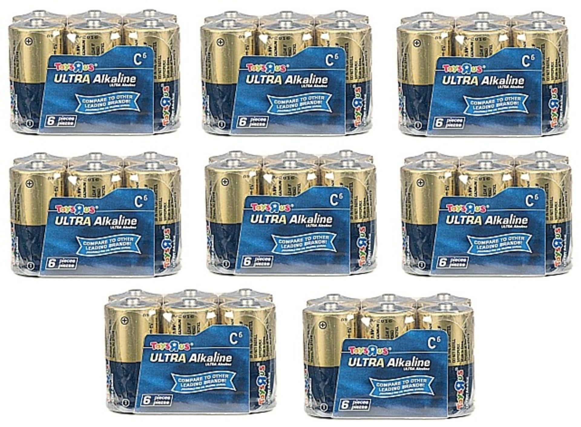 Lot 10220 - V Brand New 48x Ultra Alkaline C Cell LR14 Batteries