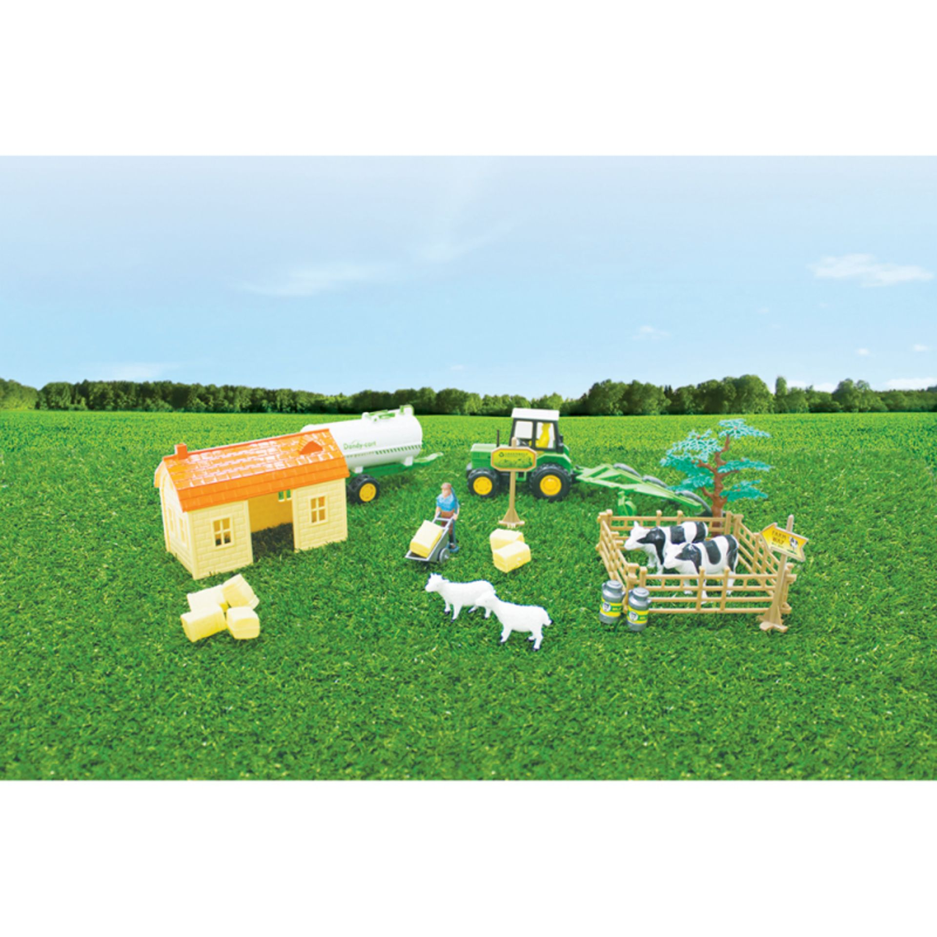 Lot 12584 - V Brand New Barn Farm Set (26pc) To Include Animals - Vehicles - Buildings And Mini Figures Ebay