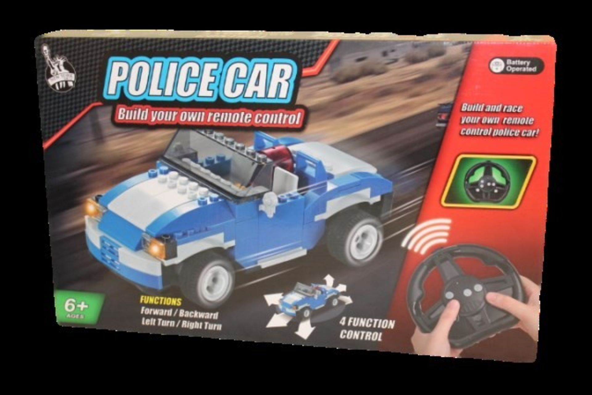 Lot 12412 - V Brand New Radio Controlled Build your own Police Car Full function r/c Matches Lego RRP ú49.99