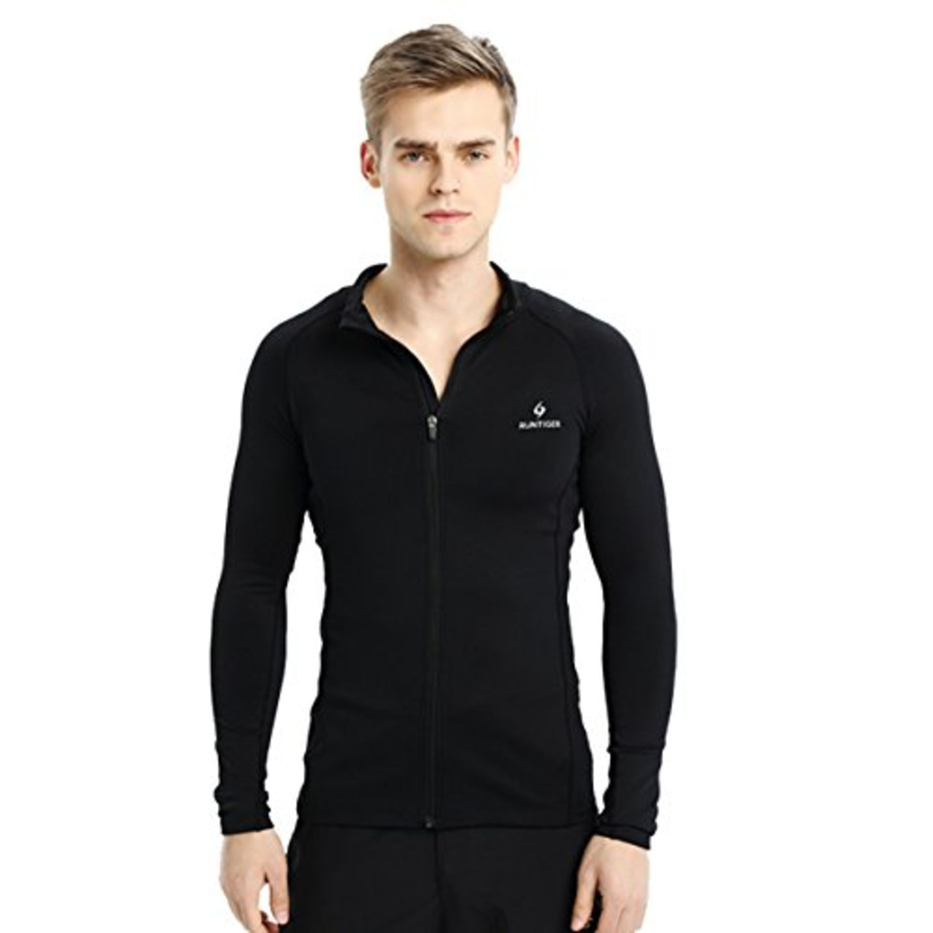 Lot 10251 - V Brand New Black Runtiger Long Sleeve Running Top Size M - Item is simelar to picture