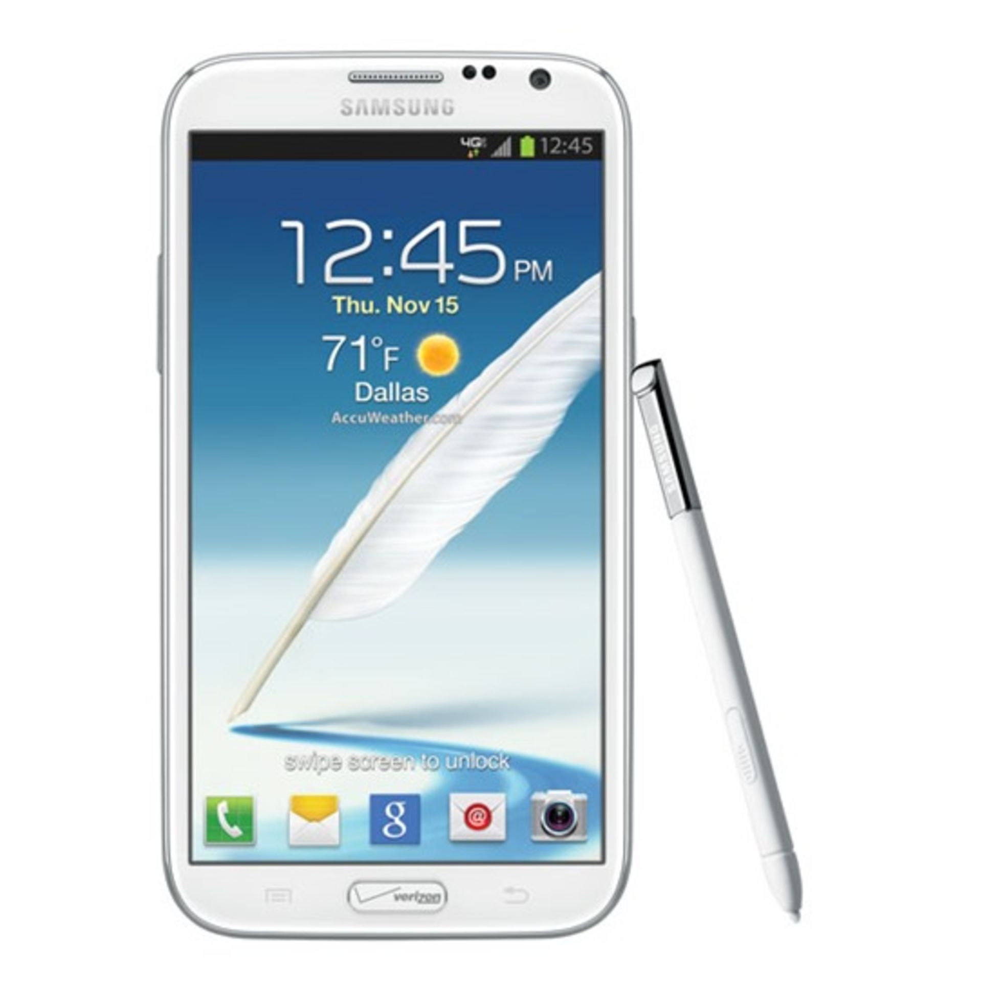 Lot 11896 - Grade A Samsung Note 2(N7102) 2SIM Colours May Vary Item available approx 15 working days after