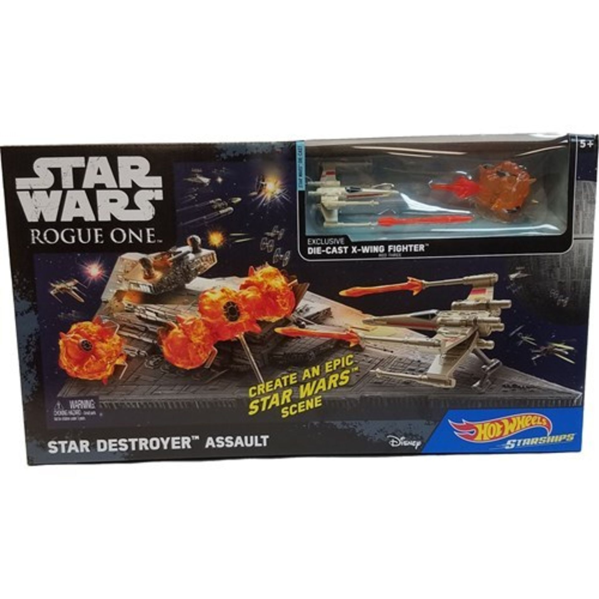 Lot 12528 - V Brand New Hot Wheels Star Wars Rogue One Star Destroyer Assault - 20 Pieces Included - Includes