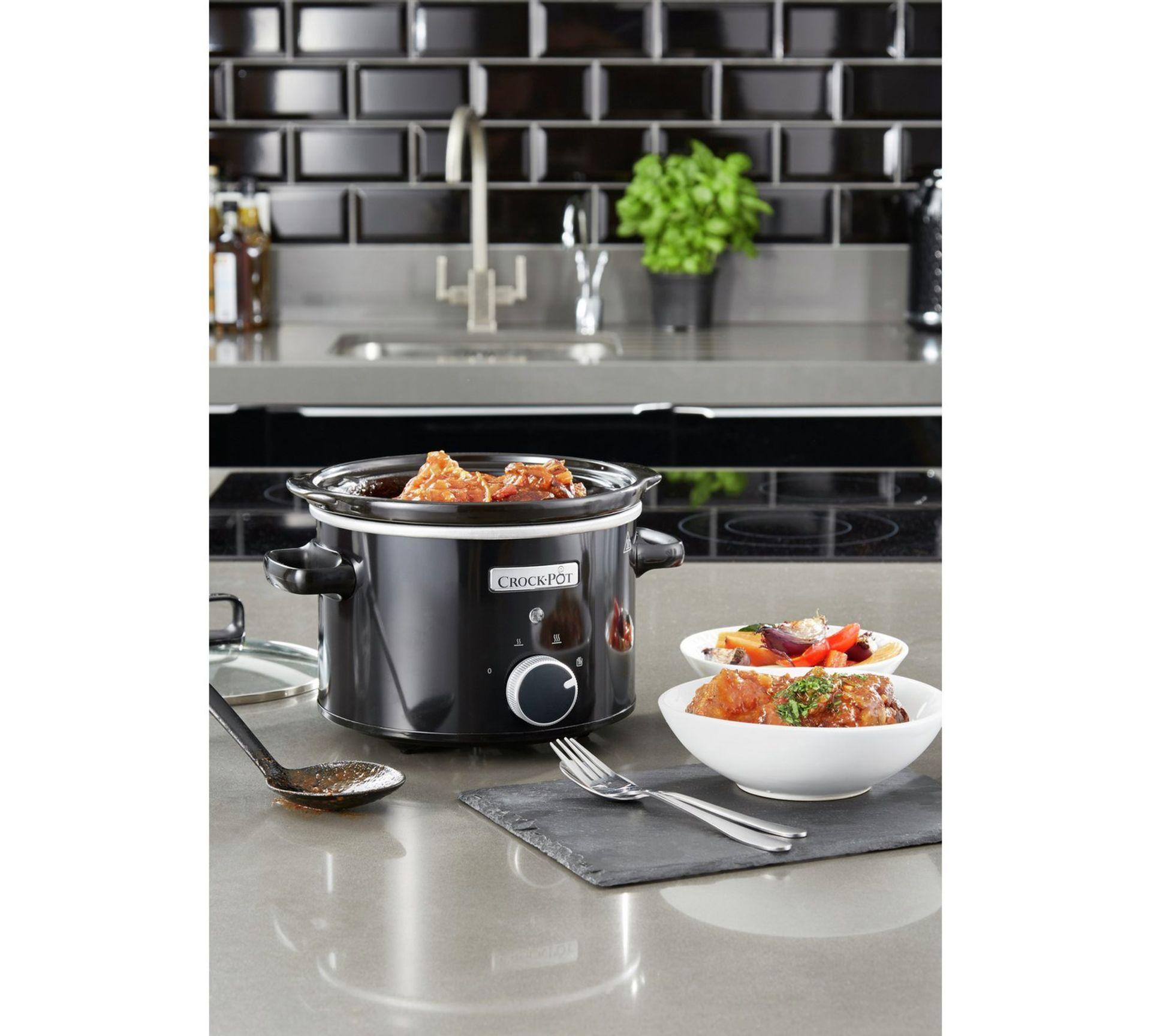Lot 13268 - V Brand New 2.4L Crock-Pot Slow Cooker - £31.99 at Espares.co.uk - Black - Dishwasher Safe - Oven