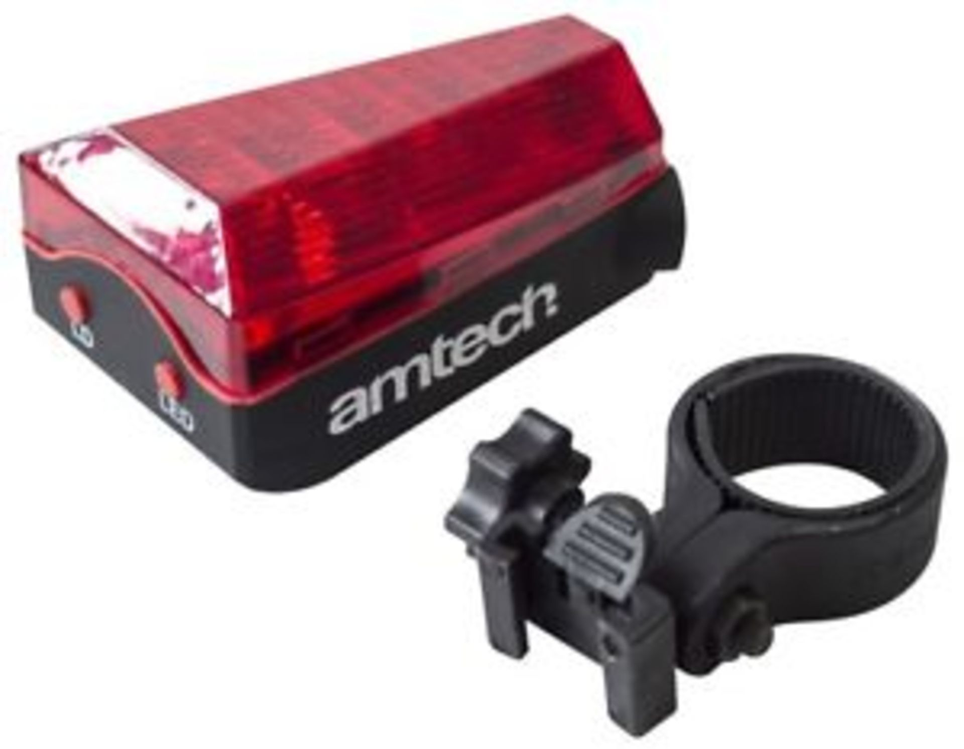 Lot 12450 - V Brand New Laser Tail LED Bike Light Includes 2xAA Batteries