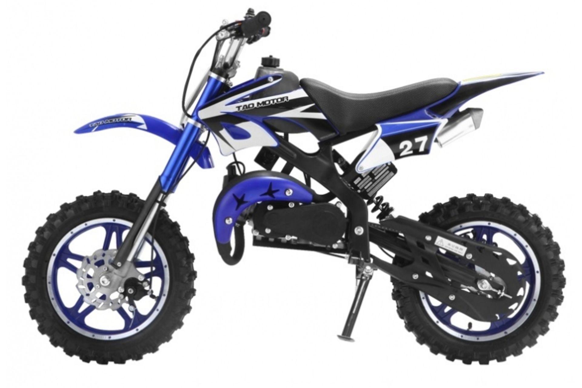 Lot 11567 - V Brand New 50cc Scrambler Blaster Mini Bike - Colour May Vary - Two Stroke - Single Cylinder -