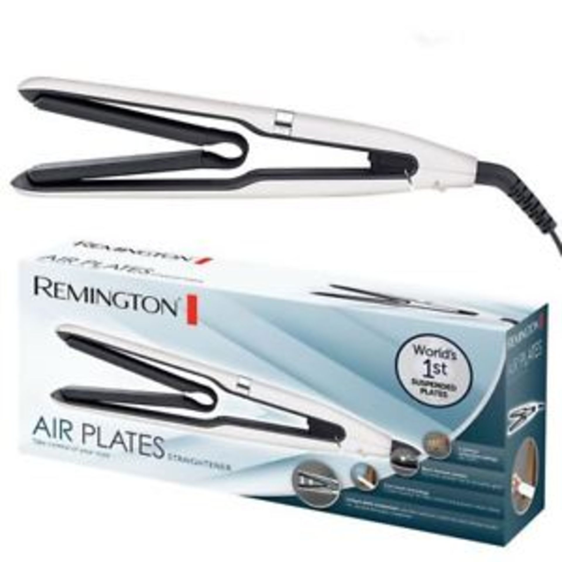 Lot 11895 - V Brand New Remington Air Plates Straightener - Argos Price £79.99 - 5 Optimum Temperature