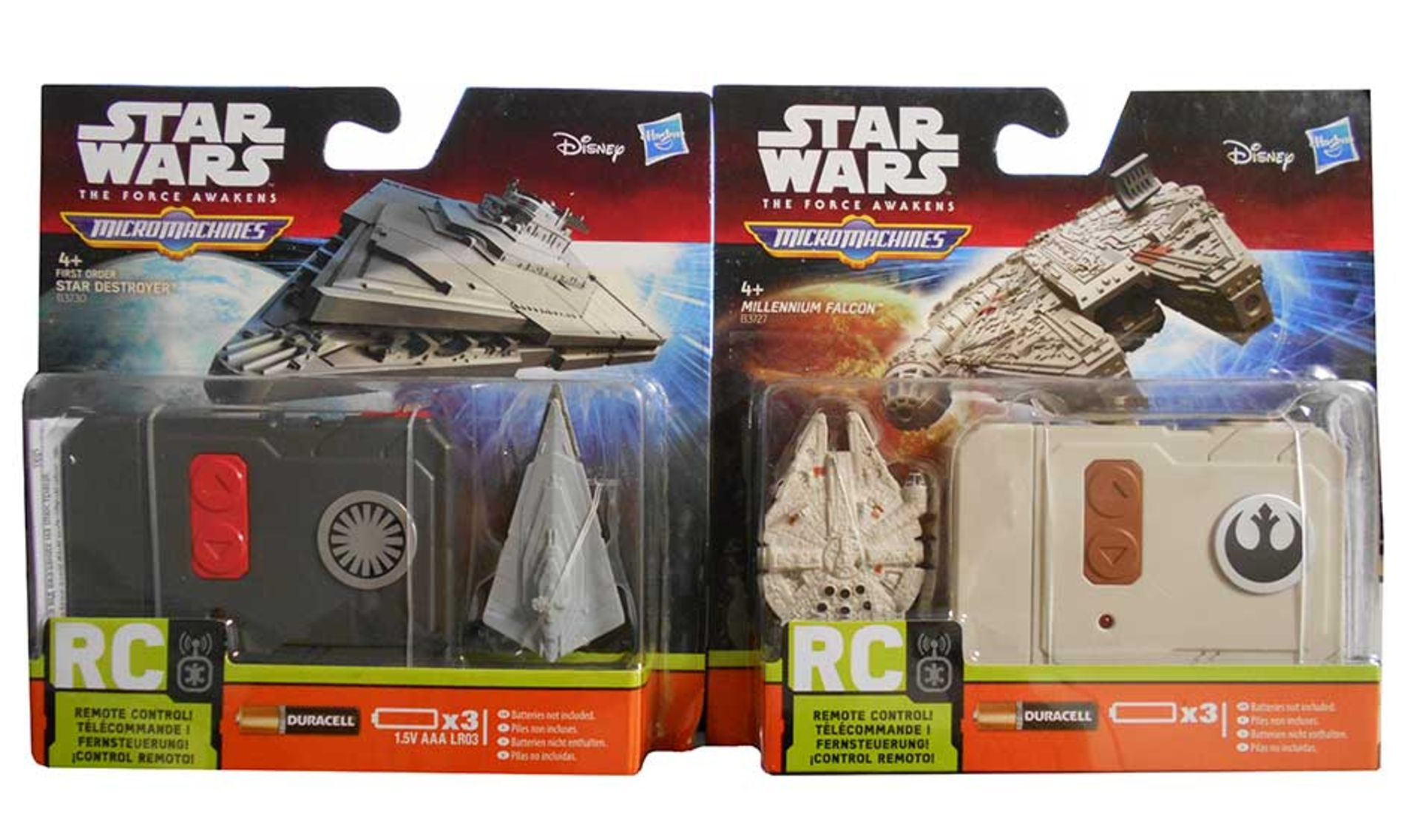 Lot 10787 - V Brand New Star Wars The Force Awakens Radio Control Micro Machines Vehicle (Please Note You Will