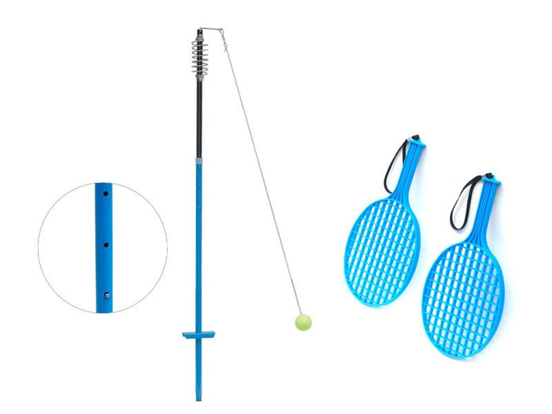 Lot 12837 - V Brand New Tennis Trainer Set w/Ball and 2 bats in carry bag