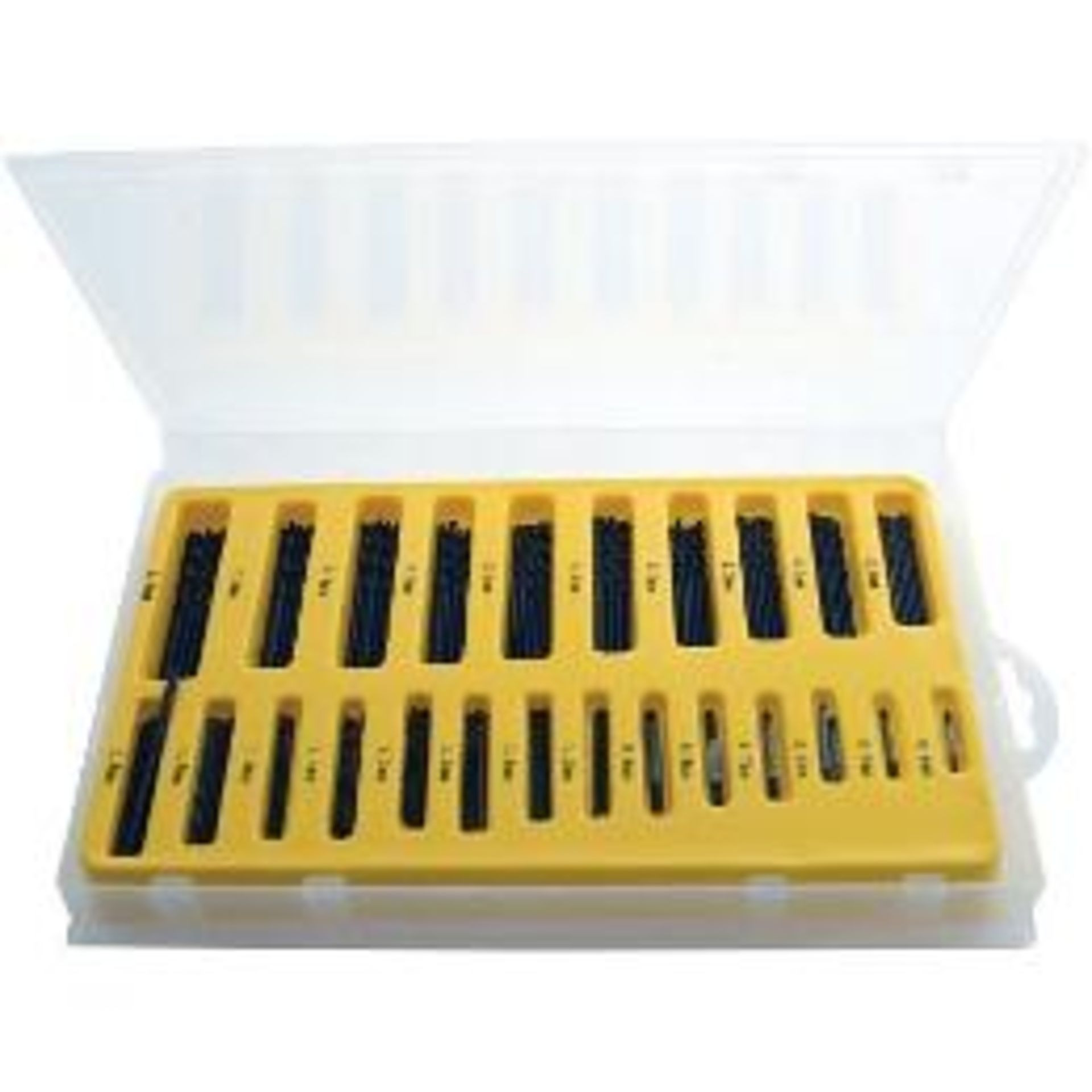Lot 13691 - V Brand New 150 Piece Assorted Drill Bit Set - Sizes Ranging From 0.4mm to 3.2mm