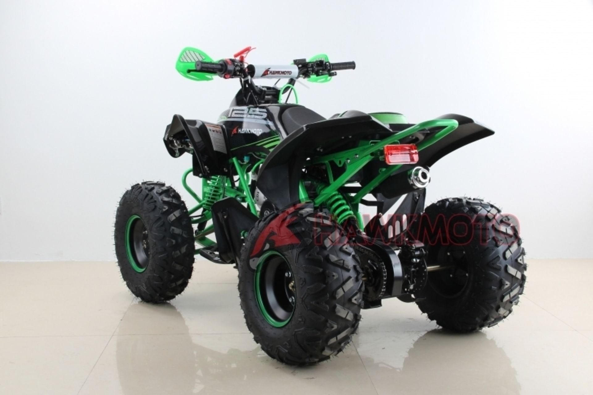 "Lot 11617 - V Brand New 125cc Mega Raptor Off Road Sports Quad Bike With ""Fat Boi"" Off Road Wheels - Electric"