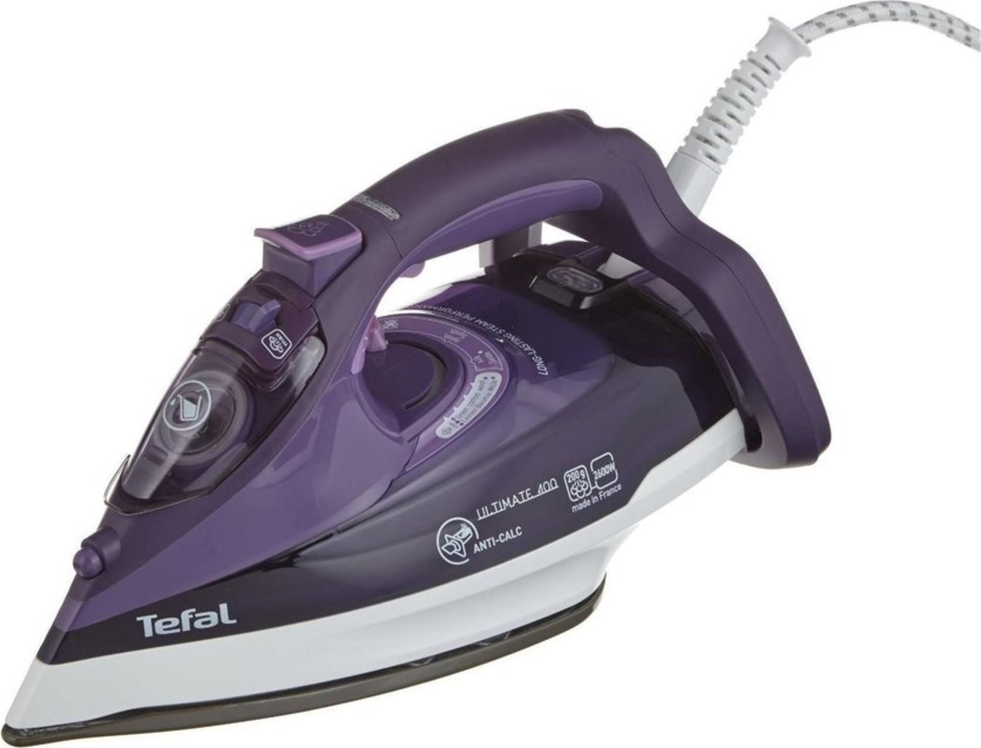 Lot 10144 - V Brand New Tefal Ultimate Anti Calc 400 2600W Turbo Steam Iron - Glide Protect - Security On/