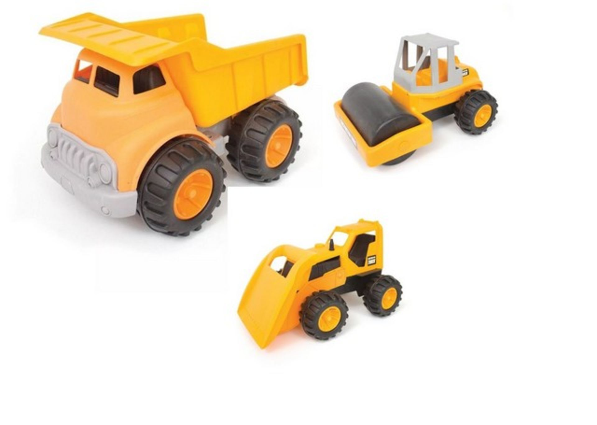 Lot 12588 - V Brand New Big Play Truck Construction Engineering Brigade Vehicle Set - Ideal For Sandpit Play (