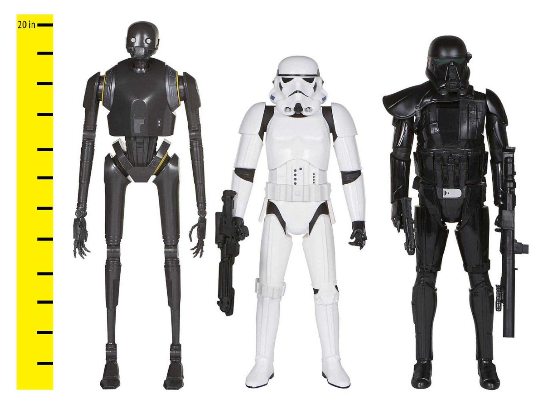 """Lot 12577 - V Brand New Big Star Wars Rogue One Action Figure (18-20"""" Tall) Anthology 3 Pack - ISP £39.49 ("""