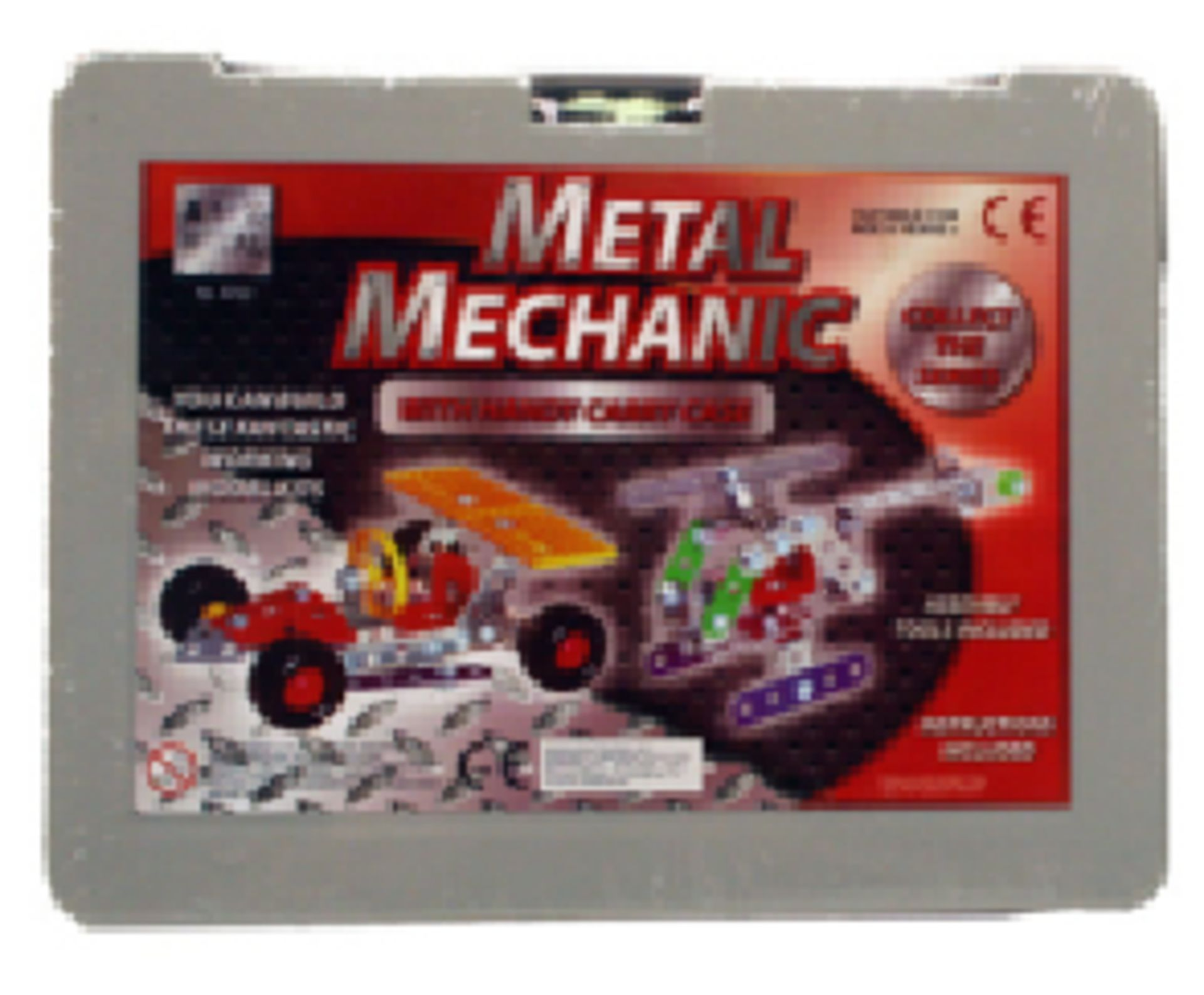 Lot 12581 - V Brand New Meccano Type Contruction Kit In Carry Case With Instructions And Tools Age 6+
