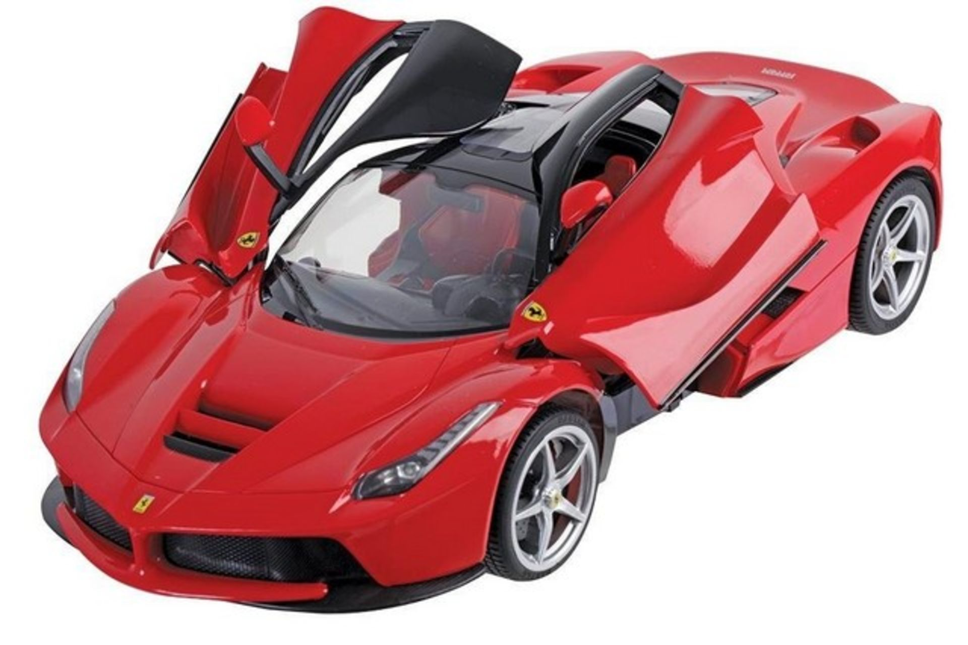 Lot 11678 - V Brand New R/C 1:14 Scale Ferrari La Ferrari Official Merchandise With Forward/Reverse - Left/Right