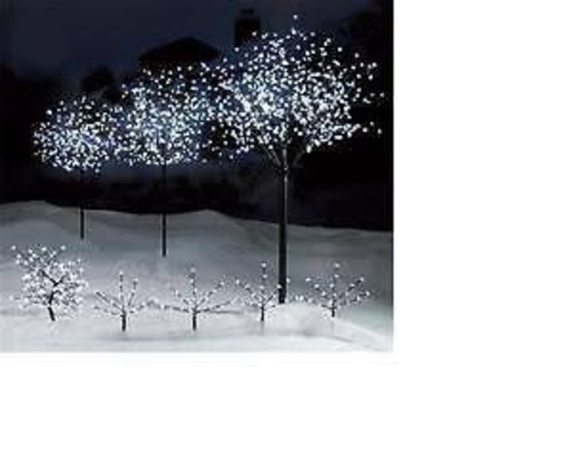 Lot 11959 - V Brand New 150cm Snow White LED Blossom Tree For Indoor And Outdoor Use RRP £54.99