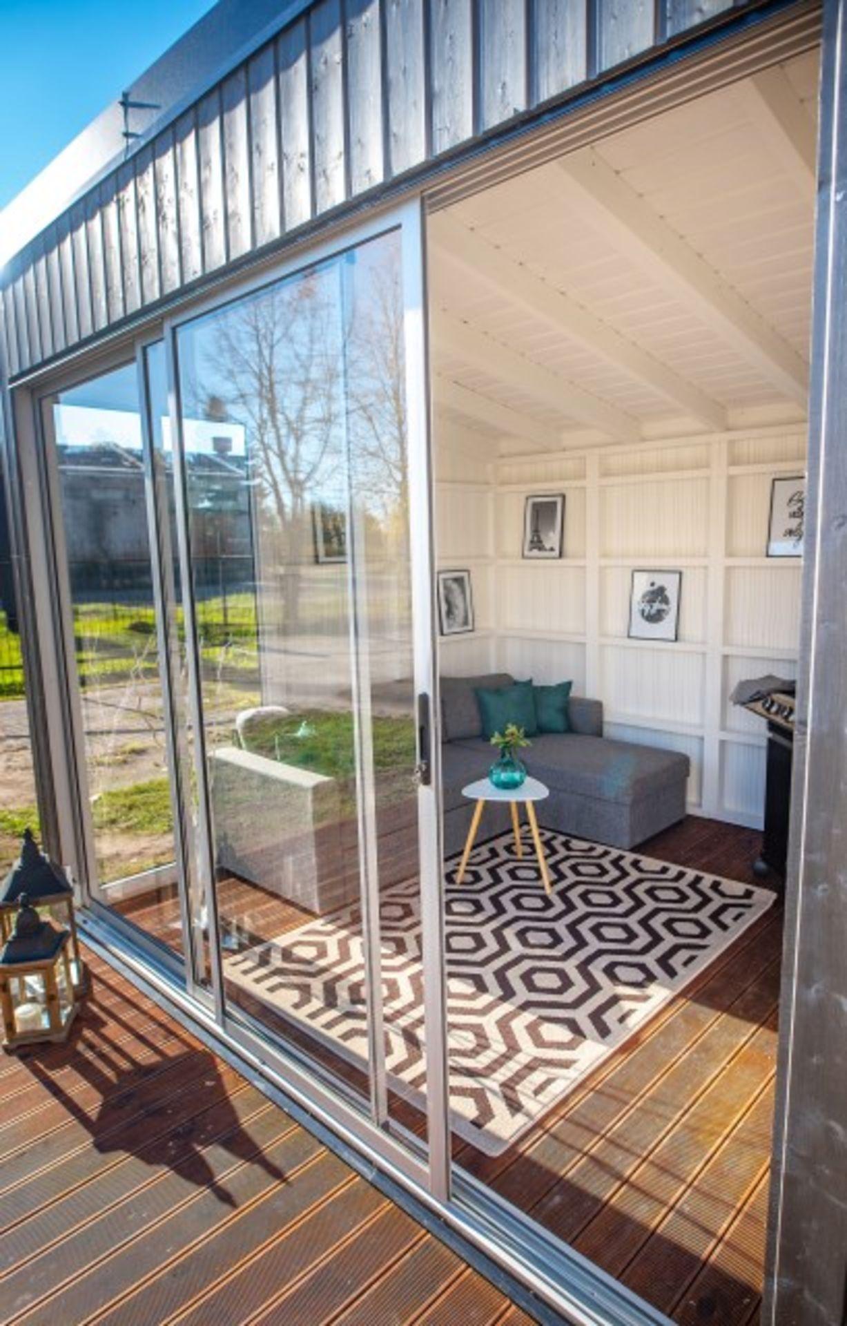 Lot 18019 - V Brand New Fantastic 3m x 3m Garden Cube With Triple Sliding Glass Doors - Full Floor To Ceiling
