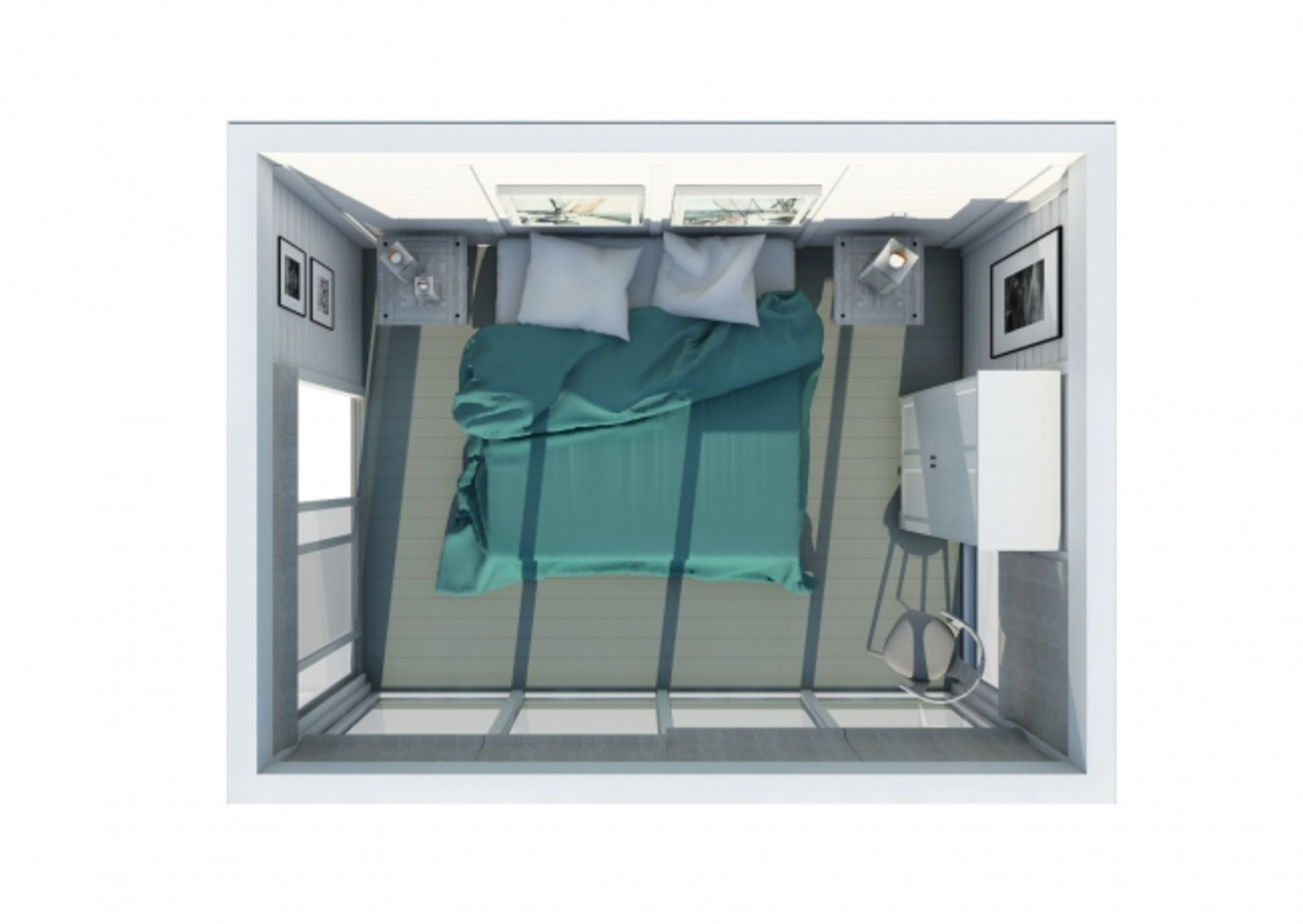Lot 18029 - V Brand New Insulated Cube Hotel Room Cabin - 3 x 4m - Insulated Walls + Glass Sliding Doors -