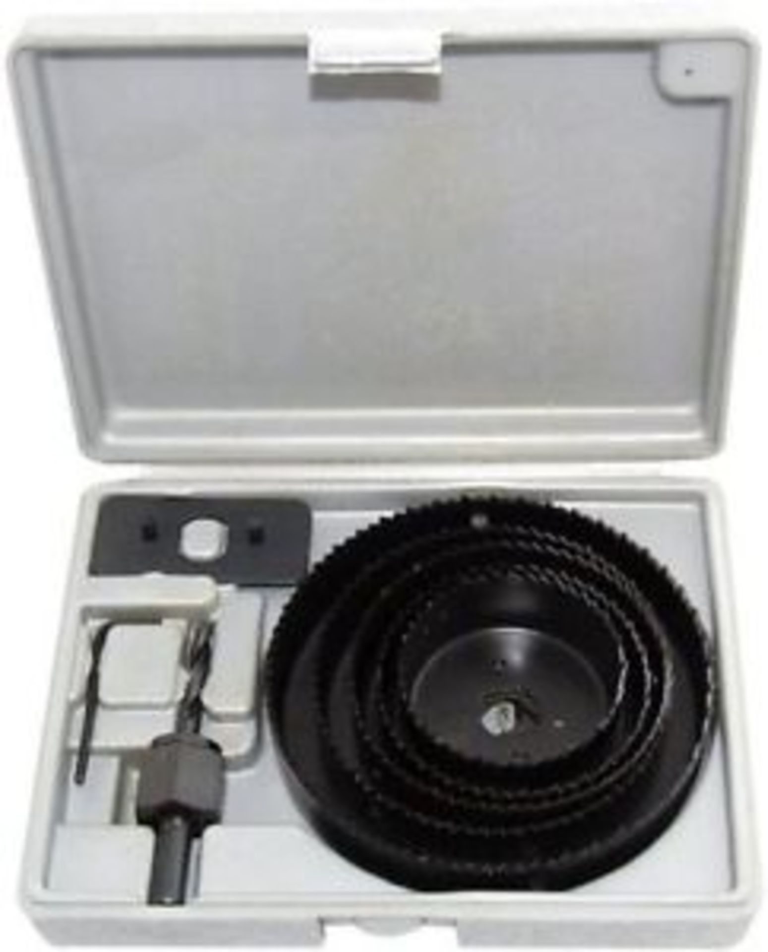 Lot 13575 - + VAT Brand New 8 Piece Hole Saw Kit Including 5 Sizes Of Blade