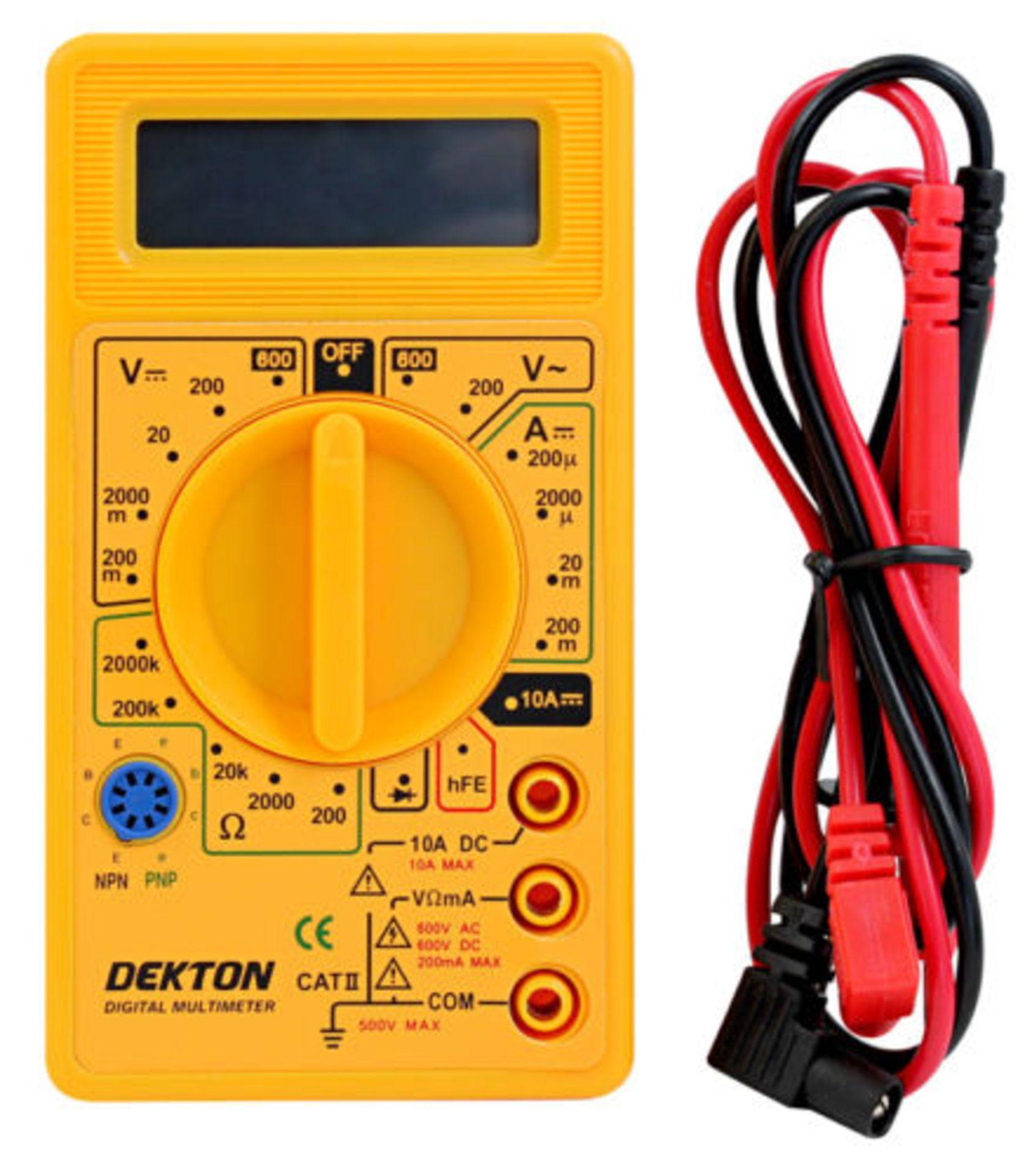 Lot 13535 - + VAT Brand New Dekton Digital Multimeter