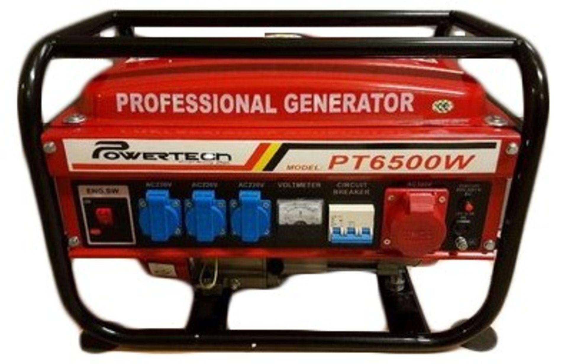 Lot 10008 - + VAT Brand New German Design Professional Gasoline Generator - 220v/380v - Air Cooled - 50HZ -
