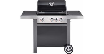 + VAT Brand New Jamie Oliver Home 3s Barbecue - Three Burners With Cast Iron Grills - Includes Side