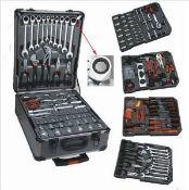 + VAT Brand New 186 (approx) Chrome Vanadium Tool Kit In Wheeled Carry Case - Includes Rachet