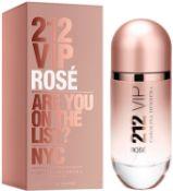 + VAT Brand New Carolina Herrera 212 V.I.P Rose (L) 30ml EDP Spray