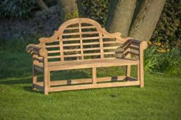 + VAT Brand New Teak - Solid Teak Lutyens Style Marlborough Bench Made From Grade A Plantation Teak