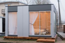 + VAT Brand New Fantastic Modern 4m x 3m Garden Cube Perfect For Office/Living Accomodation/Summer