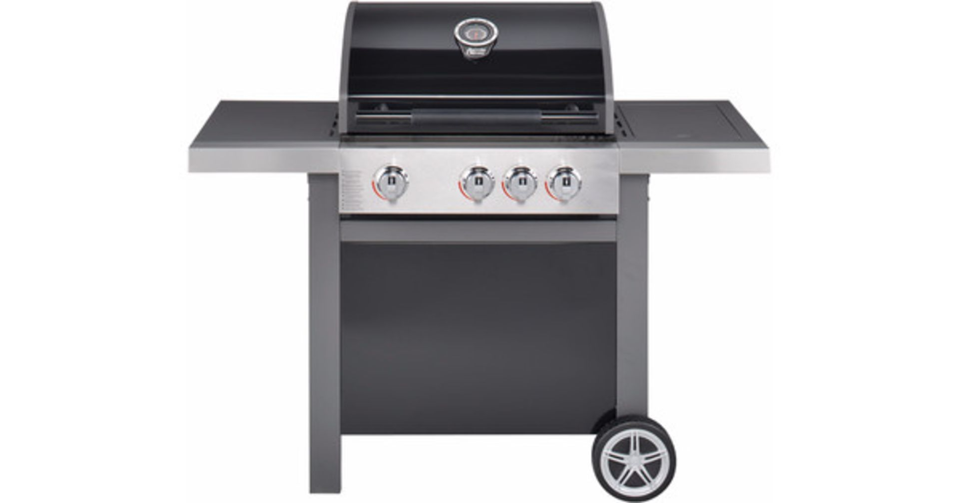 Lot 15023 - + VAT Brand New Jamie Oliver Home 3s Barbecue - Three Burners With Cast Iron Grills - Includes Side