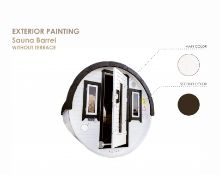 + VAT Brand New 2.2 x 2.5m Sauna Barrel - Sauna Barrel From Spruce - Two Tempered Glass Windows In