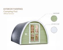 + VAT Brand New 3.2 x 4.8m Camping Pod - Made From Spruce - Roof Covered With Bitumen Shingles -