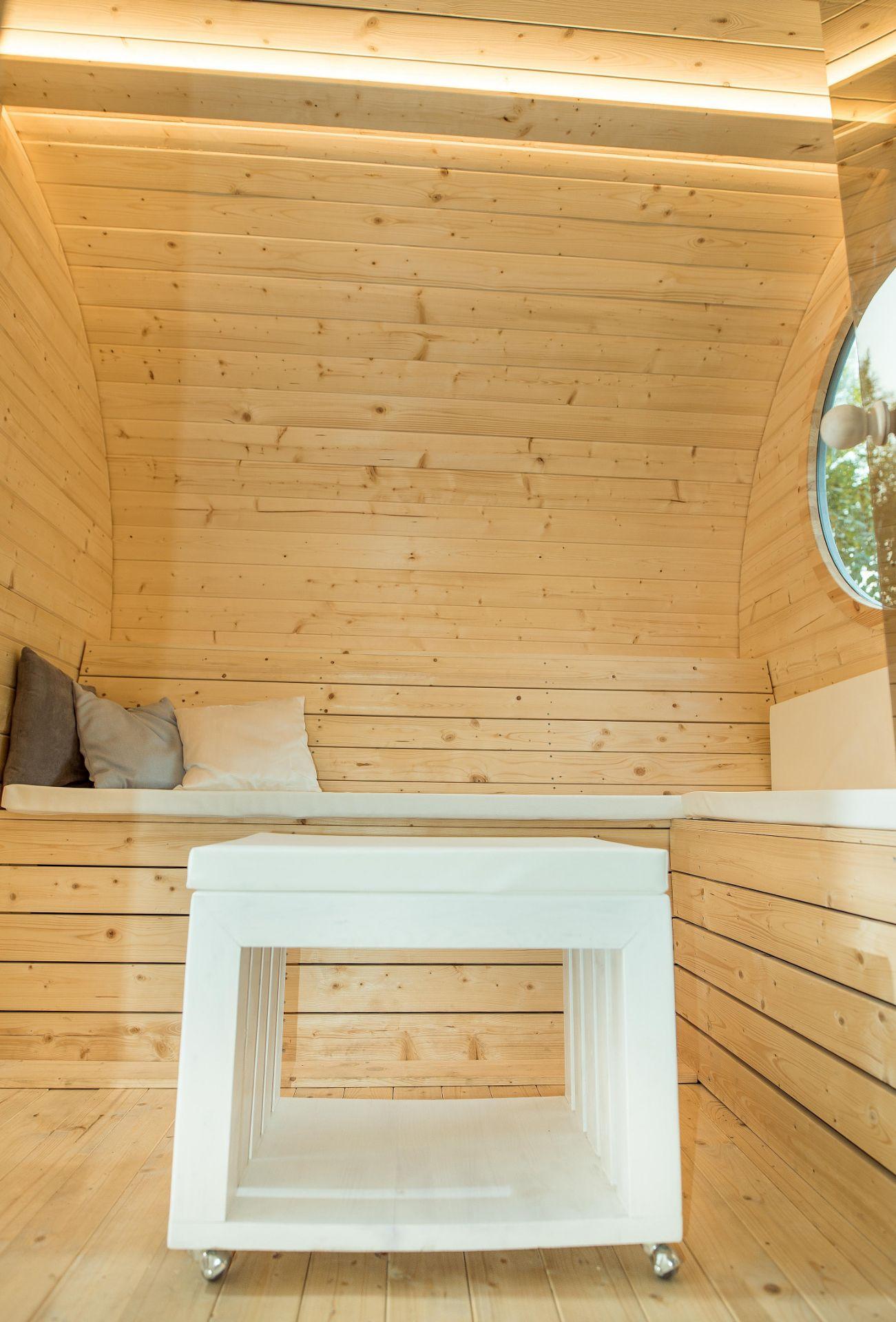 Lot 15011 - + VAT Brand New Superb Extra Large Sauna Extended Barrel 2.4m x 4.3m - Separate Sitting/Changing
