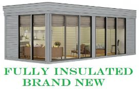 + VAT Brand New Huge Luxury 3m x 7m Insulated Glamping Cube With Sliding Glass Doors - Kitchen Area