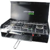 + VAT Brand New Deluxe Double Burner With Grill & Lid ISP £59.99 (W Hurst & Sons)