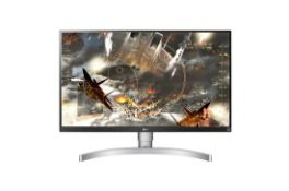 + VAT Grade A LG 27 Inch 4K UHD IPS LED MONITOR WITH HDR 400 - HDMI X 2, DISPLAY PORT X 1 27UL650-W