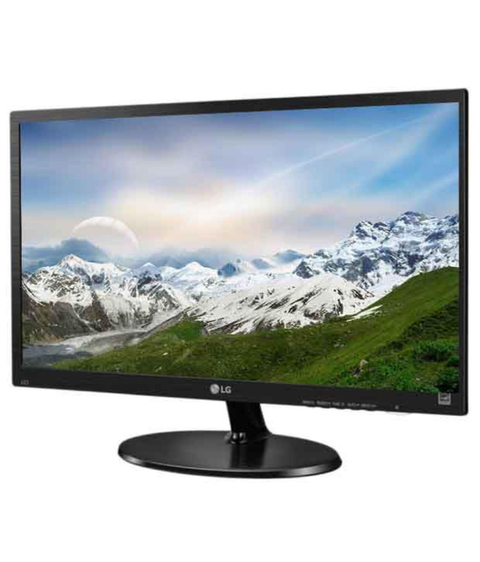 + VAT Grade A LG 19 Inch FULL HD LED MONITOR - D-SUB 19M38A-B