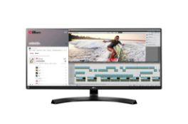 + VAT Grade A LG 34 Inch ULTRA WIDE WQHD IPS LED MONITOR - 3440 X 1440P - HDMI, DISPLAY PORT,