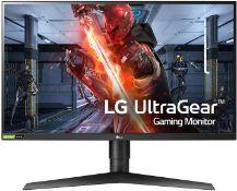+ VAT Grade A LG 27 Inch QHD HDR 10 144Hz NANO IPS LED GAMING MONITOR - HDMI X 2, DISPLAY PORT