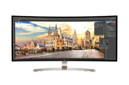 + VAT Grade A LG 38 Inch ULTRA WIDE WQHD 3840 X 1600 IPS LED MONITOR HDR 10 - HDMI X 2, DISPLAY X