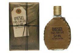 + VAT Brand New Diesel Fuel For Life (M) 50ml EDT Spray